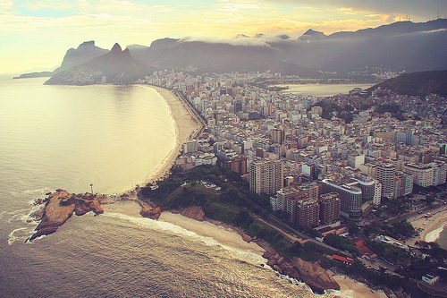 Flying Over Ipanema Beach