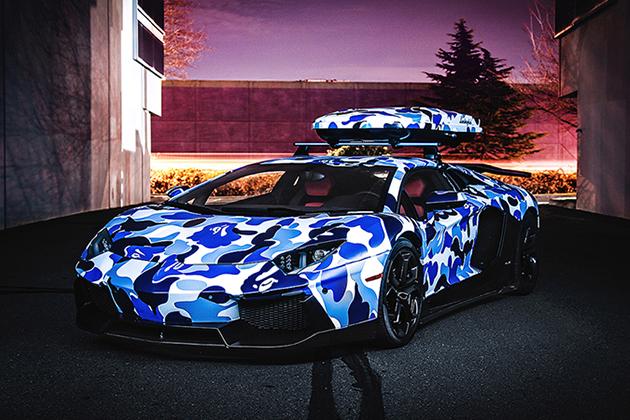 Lamborghini-x-BAPE-Arctic-Camo-Aventador-With-Ski-Box-1