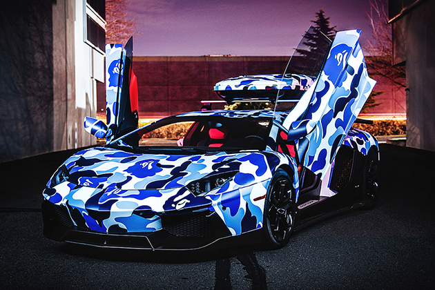 Lamborghini-x-BAPE-Arctic-Camo-Aventador-With-Ski-Box-3